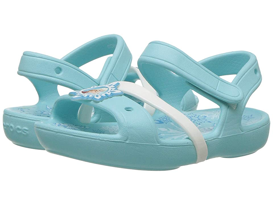 Crocs Kids Lina Frozen Sandal (Toddler/Little Kid) (Ice Blue) Kids Shoes