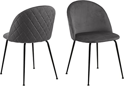Cooper & Co. Living Luna Dining Chairs Set of 2, Dark Grey