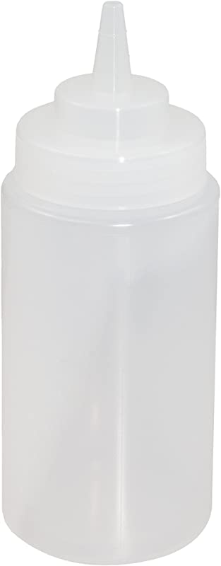 Crestware SB16CW Squeeze Wide Mouth Bottle 16 Oz Clear