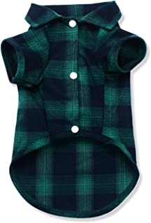 Dog Shirt,Quno Pet Plaid Polo Clothes Shirt T-Shirt, Sweater Bottoming Shirt,Cat Puppy Grid Adorable Wearing Stylish Cozy ...