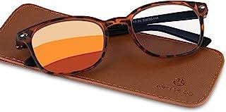 Optix 55 Progressive Reading Glasses For Women/Men | Multifocal Non Prescription Readers For Presbyopia & Near Distance Vi...