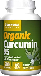 Jarrow Formulas Organic Curcumin 95, Turmeric Antioxidant Support 500 mg Tablets, 60 Count