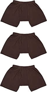 Clathian Men's Boxer Briefs 3-Pack | Men's Underwear | Boys Boxer Trunks Shorts | in S XS XXS Sizes | Boys 14-16