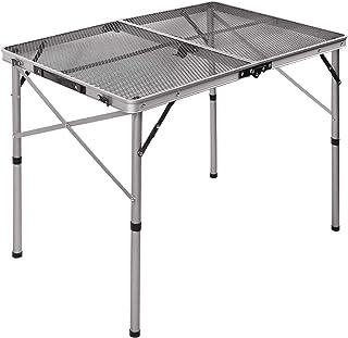 میز کوره تاشو آلومینیومی REDCAMP برای کمپینگ ، میز قابل تنظیم در فضای باز سبک قابل حمل با قابلیت تنظیم ارتفاع برای بیرون ساحل BBQ ،