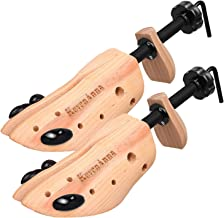 KevenAnna Pair of Premium Professional 2-way Wooden Shoe Trees, Wooden Shoe Stretcher for Men or Women (Large)