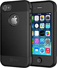 JETech TPU Case for iPhone 4s and iPhone 4, Black