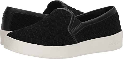 Black Woven Suede/Black Leather/Optic White