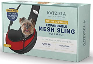 Pet Carrier Sling Bag - Small Dog, Puppy and Cat Carrier Front Shoulder Backpack w/ Harness Strap - Carrying Pouch for ESA...