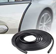 TOMALL Car Door Guards U Shape Rubber Seal Protector 5M(16ft) Flexible Anti-Collision No-Sticker Protected Lining Moulding Strips (Black)