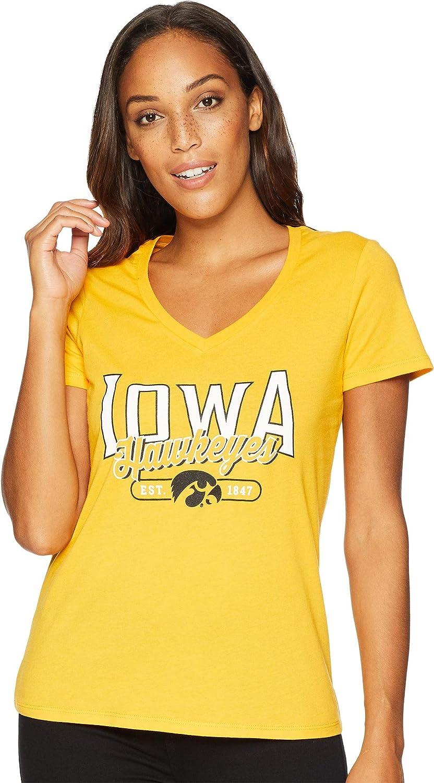 Champion College Womens Iowa Hawkeyes University VNeck Tee