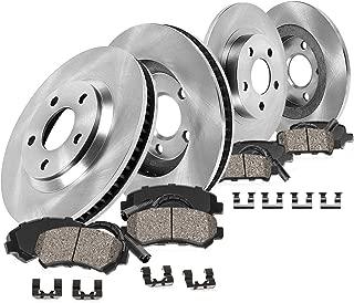 CRK11415 FRONT 288mm + REAR 278mm Premium OE 5 Lug [4] Rotors + [8] Low Dust Ceramic Brake Pads + Sensors + Hardware