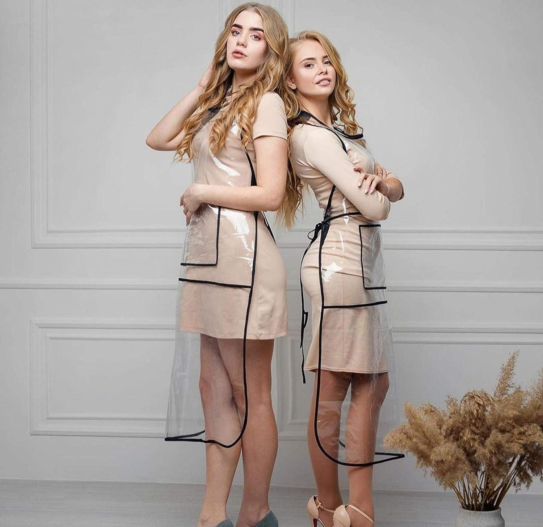 Transparent beauty cheap salon apron with ft pocket online shopping 2.6 length