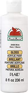 Apple Barrel Gloss Acrylic Paint in Assorted Colors (8 oz), 20408 Gloss White