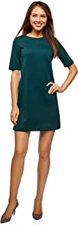 oodji Collection Womens Straight Dress in Textured Fabric