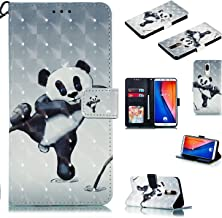 RONSHIN For HUAWEI Mate10 lite 3D Coloured Painted PU Magnetic Clasp Wallet Stand Phone Case with Lanyard Fighting bear HUAWEI Mate10 lite Electronic Accessories