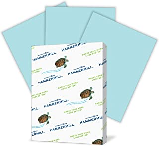 Hammermill Colored Paper, Blue Printer Paper, 24lb, 8.5x11 Paper, Letter Size, 500 Sheets / 1 Ream, Pastel Paper, Colorful Paper (103671R)