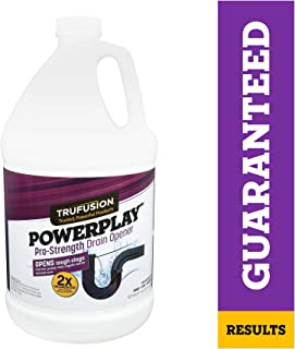POWERPLAY Pro-Strength Drain Opener |Liquid Drain Cleaner for Sinks, Bathtubs & Showers | Contains 8 Treatments,1-Gallon | Clears Full Clogs, Slow-Flowing Drain Clog Remover (10964)