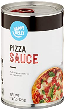 Amazon Brand - Happy Belly Pizza Sauce, 15 Ounce
