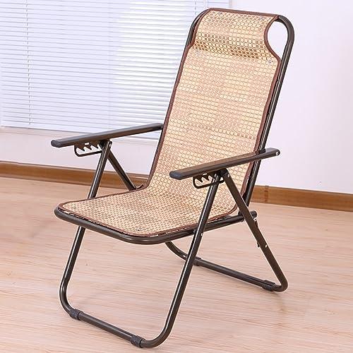 D_HOME Pliage Lounge Chair Bambou rougein Dormir Cool Chaise Enceinte Femme Déjeuner Pause Chaise Bureau Loisirs Chaise Extérieure Plage Chaise (Couleur   Style 1)