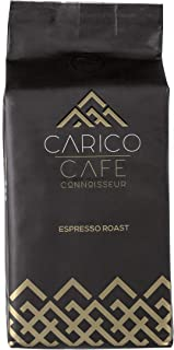 Carico Cafe Connoisseurs Whole Bean Coffee Espresso Roast, 2 Pack, 1.1 Pounds | African Arabica & Robusta Blend Espresso Beans from Uganda