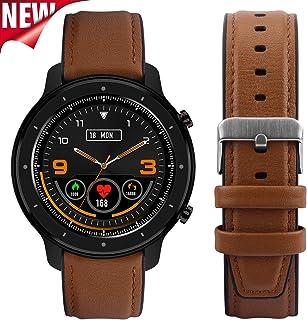 Fullmosa 【2020 Nuevo】 Reloj Inteligente, Smart Watch, Full-Touch Fitness Tracker con Frecuencia Cardíaca Monitor de Presión Arterial SoP2, 1.3 Pulgadas Activity Tracker Andriod iOS