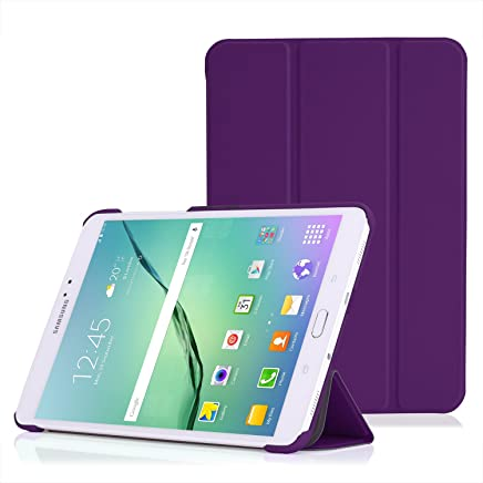MoKo Tab S2 8.0 Case - Slim Lightweight Smart-shell Stand Cover Case With Auto Wake / Sleep for Samsung Galaxy Tab S2 / S2 Nook 8.0 inch Tablet, PURPLE