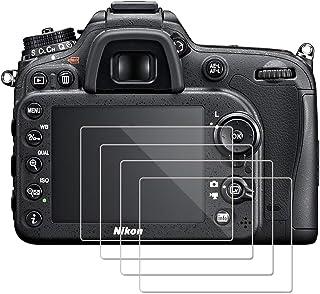 (4 Piezas) OOTSR Protector de Pantalla para Nikon D7100 D7200 D800 D800e D810 D750 D610 D600 D500 Protector de Vidrio Temp...