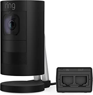 Ring Stick Up Cam Elite – Power over Ethernet HD Security Camera with Two-Way Talk, Night Vision, Black, Works with Alexa