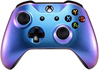 eXtremeRate® Purple and Blue Chameleon Front Housing Shell Faceplate for Microsoft Xbox One X & Xbox One S Controller