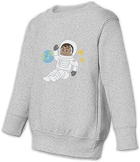 宇宙飛行士 面白いゲーム 子供服 キッズ スウェット 長袖Tシャツ プルオーバー カットソー コットン シンプル 無地 柔らか おしゃれ 春秋冬 女の子 男の子
