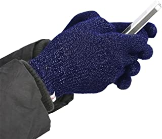 Agloves Polar Sport Touchscreen Gloves, Unisex Texting Gloves for Smartphone & Touchscreen, Fleece Lined Interior for Comfort & Warmth. (Navy, Medium/Large)