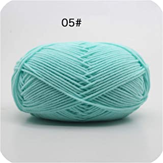 Cotton Baby Milk Yarn Worsted Cotton Crochet Thread Hand Knitting Wool Line Dyed 4 Plys Hot 50g/pc,5