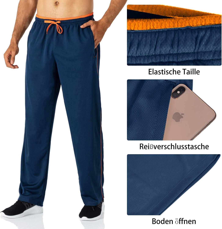 Butrends Pantaloni da Jogging da Uomo Pantaloni Sportivi Pantaloni da Corsa Leggeri con Tasche con Zip Pantaloni Sportivi in Vita Elasticizzata Pantaloni a Gamba Dritta Casuale Fitness