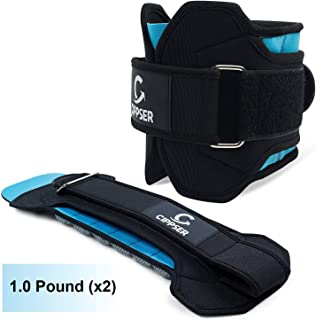 CIPPSER Premium Ankle Weights for Women & Men | Exercise Leg Weights Great for Glutes Workout, Running, Lifting, Jogging or Cardio | Choise of 1lb, 2lb, 2.5lb and 3lb Ankle Weight Sets