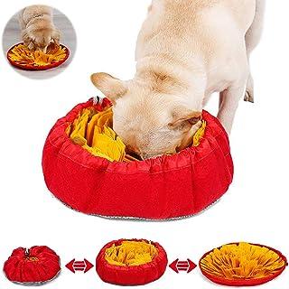WELLXUNK Alfombra de Actividades para Mascotas,Snuffle Mat para Perros,tapete de Entrenamiento,para Mascotas Pequeños y Grandes (Yellow)