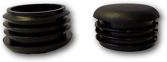 20 Deslizador//tap/ón cabeza redondeada con l/áminas negro pl/ástico para tubos redondos