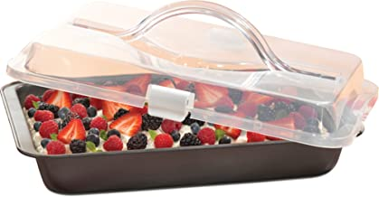 T-fal 84840 Signature Covered Nonstick Cake Pan, 9