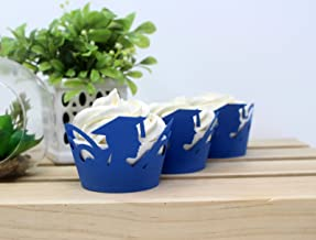All About Details Female Graduate Cupcake Wrappers,12pcs (Blue)
