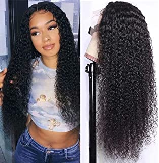 Maxine Hair Lace Front Wigs Human Hair Wig Deep Curly Brazilian Wigs For Black Women 150% Density Pre Plucked with Baby Ha...