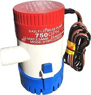 SAILFLO Boat Bilge Water Pump Marine 750 GPH 12V 3/4 inch hose outlet