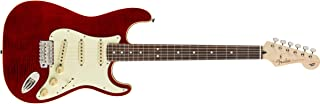 Fender Limited Edition Aerodyne Classic Flame Maple Top Stratocaster Electric Guitar (Crimson Red Transparent)