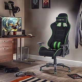 FurnitureR Silla ergonómica para juegos Silla ajustable par