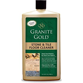 Granite Gold Stone and Tile Floor Cleaner Streak-Free No-Rinse Deep Cleaning for Granite, Marble, Travertine, Ceramic-Made in the USA, 32 Ounces, 32 Fl Oz