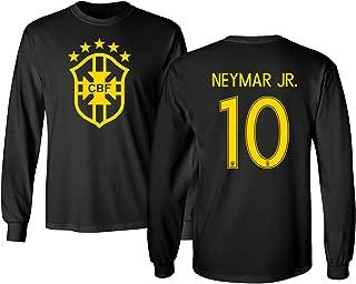 Tcamp Brazil 2018 National Soccer #10 Neymar JR. World Championship Men's Long Sleeve T-Shirt