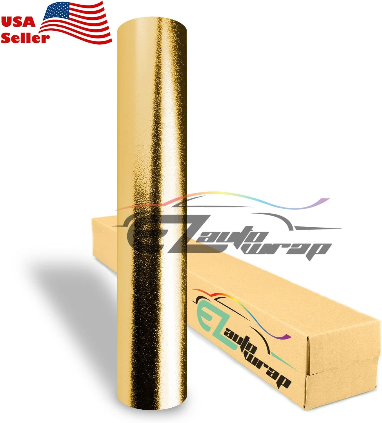 EZAUTOWRAP Max 41% OFF New products world's highest quality popular Chrome Glitter Gold Car Vinyl Wrap Shee Sticker Decal