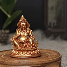 Decoration Buddha Statue of Huang Caishen Pure Copper Zen Buddhist Statue Religious Supplies Home Decoration Ornaments 4×5...