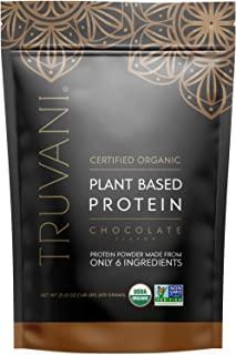 TRUVANI Plant Based Protein Powder | USDA Certified | Organic Protein Powder | Vegan, Non-GMO, Gluten Free Protein Powder ...