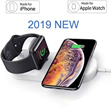 OSMCELL Magnetic Wireless Charger for Apple Watch, Compatible for iWatch Series 4/3/2/1, 2 in 1 Charging Pad Stand Compatible for with for iPhone Xs/XS MAX/XR/X/ 8/ Plus