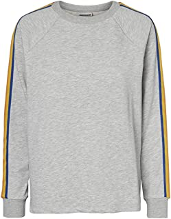 Noisy May Pamela Sweater Ladies Long Sleeves Top Sweater Outerwear Grey