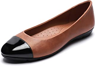 CINAK Women's Flats Comfort- Casual Round Toe Ballet Soft Walking Slip-on Dress Shoes